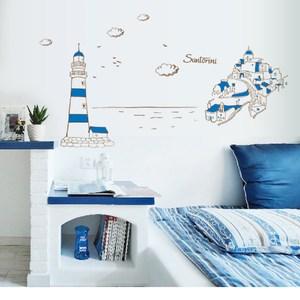 高級無痕環保壁貼 地中海風情 60x90cm WTB-723