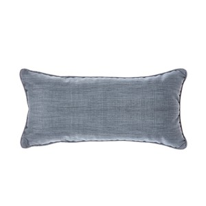 HOLA 素色拼色滾邊抱枕30x60cm 靛藍灰