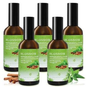 【BLOSSOM】薄荷丁香舒緩賦活彈力按摩油(100ML/瓶 共5瓶)