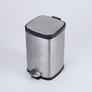 特力屋 肯特不鏽鋼緩降垃圾桶 12L
