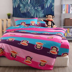 【Paul Frank 大嘴猴】動感滿分吸濕排汗兩用被床包組(加大)