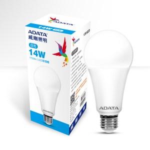 ADATA 威剛照明 14W 高效能LED球泡燈-白光-6入