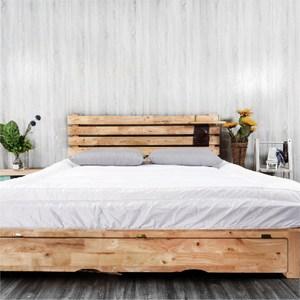gudreams祝你好夢床墊純棉白組合-雙人加大6尺輕型床+純白雲端墊
