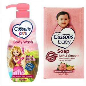 【Cussons 佳霜】兒童沐浴乳-杏仁油+維他命E*3+嬰兒潤膚香*12