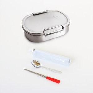 [開學季熱銷組合] 牛頭牌 雅登便當盒(中)+餐具組-紅