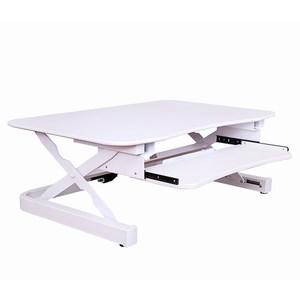 艾湃電競桌上型電動升降桌-白
