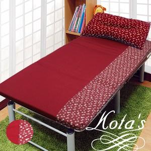 【KOTAS】冬夏透氣床墊 單人3尺送記憶枕1顆 記憶枕 單人床墊-紅小花