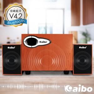 【aibo】L391 藍牙多功能2.1聲道 三件式木紋USB喇叭