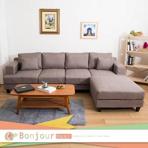 【日安家居】Lori蘿莉豆腐L型沙發(3色)淺咖