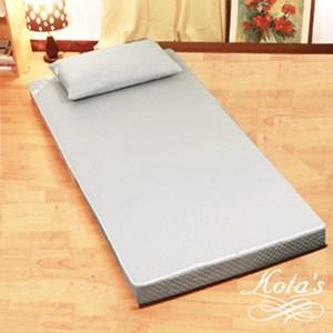 【KOTAS】尊爵高密度二折床墊(單人)~灰