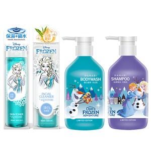 【快潔適】雅蓮碧 冰雪奇緣 保養清潔組 化妝水+洗顏露+洗髮乳+沐浴乳