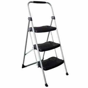 PRO特選三階扶手鐵管寬塑膠踏板梯
