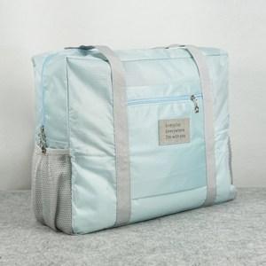 【韓版】牛津布糖果色大容量多用旅行收納袋(天空藍)