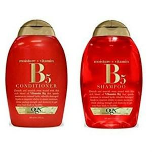 美國Ogx含維他命B5有機洗髮乳*2+潤髮乳*1瓶共(13oz/385ml)*3