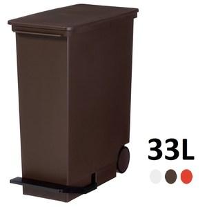 【日本Like it】直立式分類垃圾桶 33L -棕色