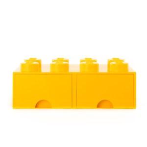 樂高系列 - 經典方塊八抽屜盒(檸黃)