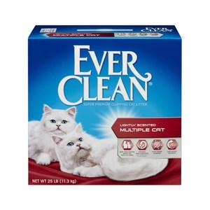 【Ever Clean】藍鑽結塊貓砂-25磅(11.3kg)-紅標