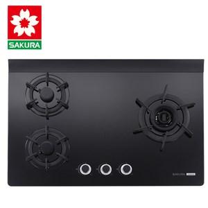 櫻花牌 G2932AG 創新雙炫火強化玻璃檯面式三口瓦斯爐-桶裝