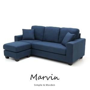 [特價]【obis】MARVIN自然風L型布沙發(四色)深藍