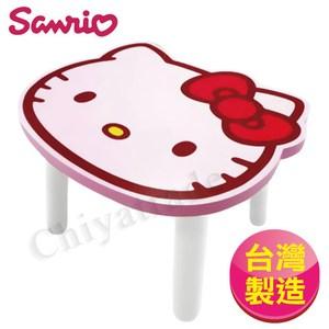 【Hello Kitty】台灣製大頭造型矮凳椅子-粉(正版授權)