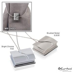 金屬窗簾方形磁性扣 2入/組 43 x 33 x 8mm 刷線鎳|亮鉻亮鉻
