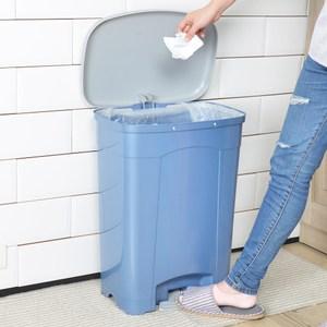 吉利潔腳踏式垃圾桶40L-粉藍