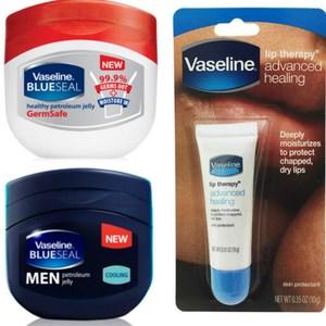 【美國 Vaseline】護唇膏(10g*6)+潤膚膏(無菌)+(男用清涼)*2