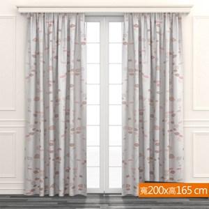 舞葉遮光窗簾 寬200x高165cm 米色