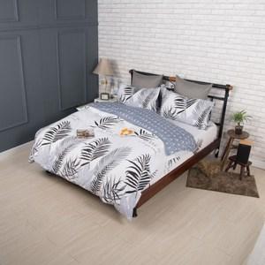 【夢工場】別致花樣精梳棉鋪棉兩用被床包組-加大