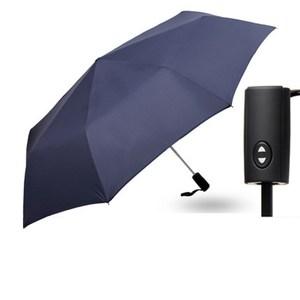 【PUSH! 好聚好傘】一鍵開收全自動傘 遮陽傘 折疊傘(深藍色)I63-1