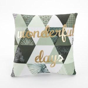 抽象圖騰抱枕45x45cm 綠