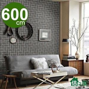 【佶之屋】DIY立體3D仿真石紋木紋自黏壁貼 45x600cm泥磚