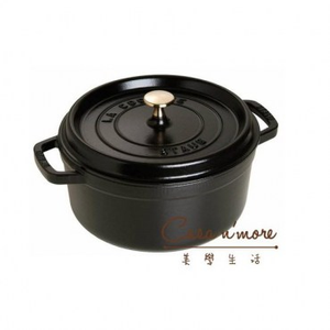 Staub 迷你圓形鑄鐵鍋 10cm 黑