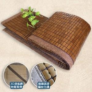 【品生活】窄邊碳化棉繩三明治驅蚊麻將涼蓆_雙人(5x6.2尺)