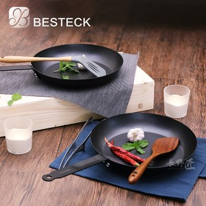 【Besteck】法式平底不沾鐵鍋-28CM(2入組)