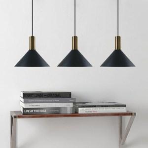 HONEY COMB 經典工業風奢華三吊燈 黑色TA82881 長盤款