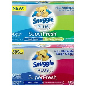 New!【美國 Snuggle】烘乾機香衣片-2款(70片)*3