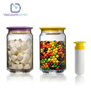【COLOPOT】真空玻璃密封罐-1000ML*2入+抽氣棒