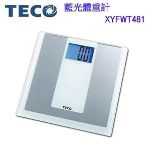 TECO東元藍色背光電子體重計 XYFWT481