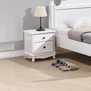 【YFS】巧瑞兒歐風雙抽床頭櫃-45x41x52.5cm