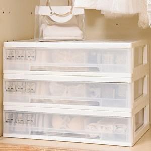 【IDEA】純色抽取式多元內衣收納盒(附輪/可疊加)