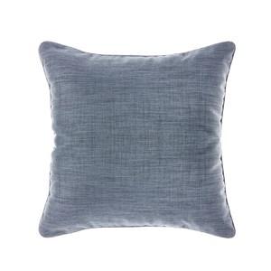 HOLA 素色拼色滾邊抱枕50x50cm 靛藍灰