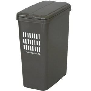 【this-this】掀蓋式垃圾桶14L - 可可棕色