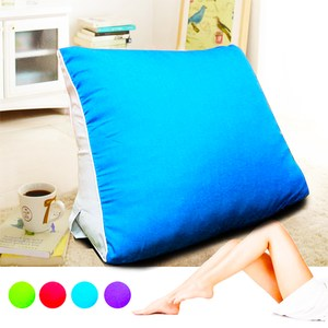 【KOTAS】大型 滾邊 抬腿記憶枕/靠枕(四色款) 抬腿記憶枕-藍