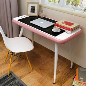 【家具+】Iphone 造型強化玻璃書桌/工作桌/電腦桌-玫瑰金玫瑰金