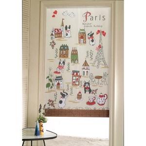 【三房兩廳】日式門簾-愛上巴黎-85×150cm