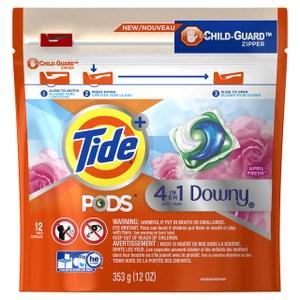 美國Tide洗衣凝膠球四合一--四月花香(353g/12粒)*6包/箱