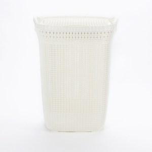 CURVER麻花織紋洗衣籃57L 奶油白