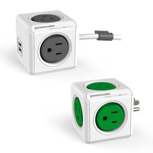 【組合優惠】PowerCube 擴充插座+USB兩用延長線1.5m