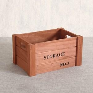 家居木質收納箱-(古銅色)小